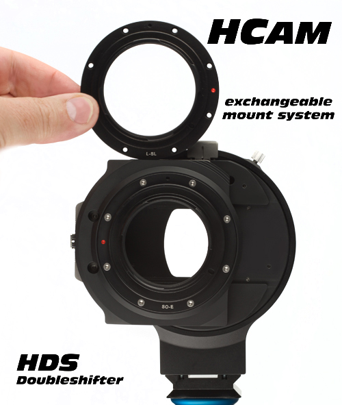 HCam HDS-Doubleshifter exchangeable mounts